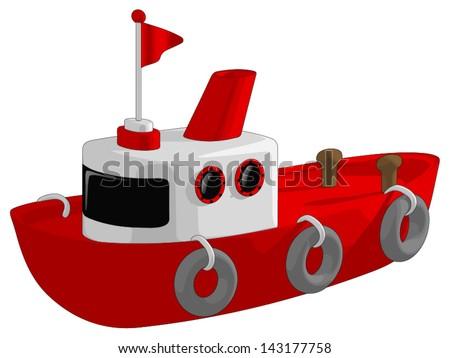 Tug Boat - stock vector