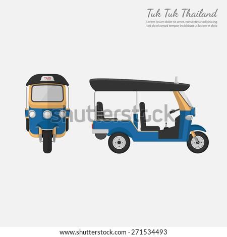 Tuk Tuk Thailandvector ベクタ...