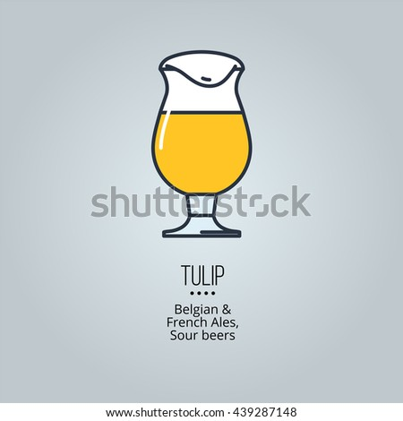 tulip glass icon