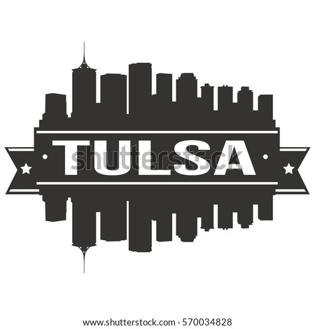 tulsa silhouette skyline stock vector 556521937 shutterstock