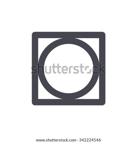 Tumble Dry Washing Sign Laundry Symbols Stock Vector 342224546