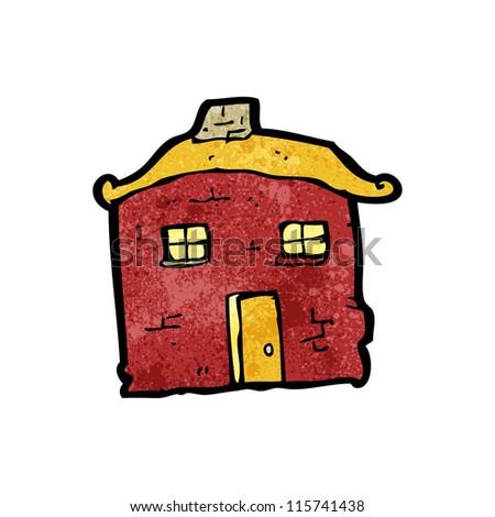 tumbledown house cartoon - stock vector
