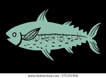 Tuna fish - stock vector