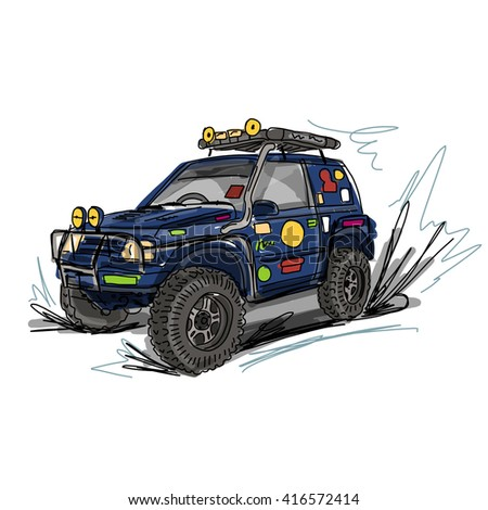 Tuned SUV car, sketch for your design