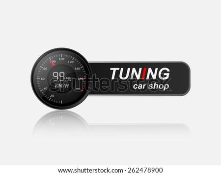 Tuning car shop logo,vector  - stock vector