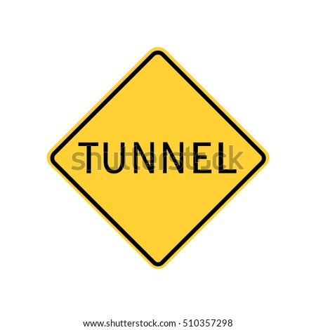 tunnel sign. warning. icon, United States: California