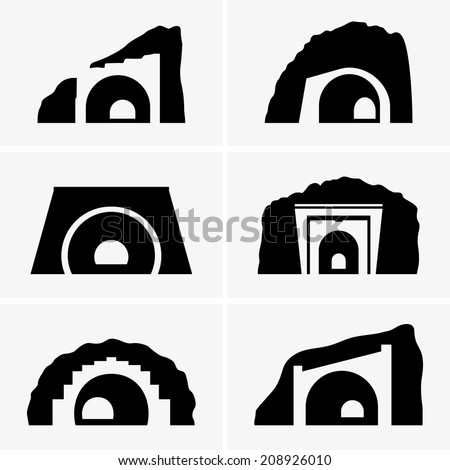 Tunnels - stock vector
