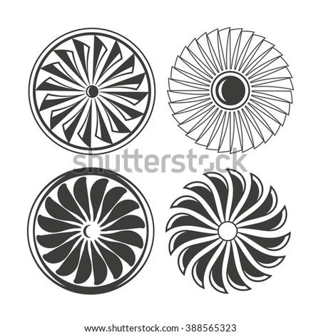 Turbine Icons Electricity Icons Jet Engine Vector 388565323 – Jet Turbine Engine Diagram