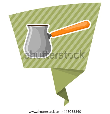 Turk colorful icon. Vector illustration in cartoon style - stock vector