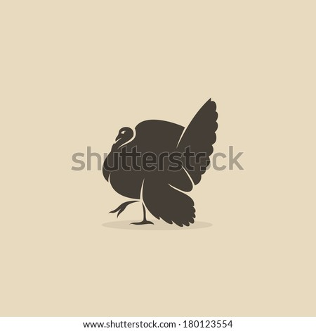 Turkey bird - vector illustration - stock vector