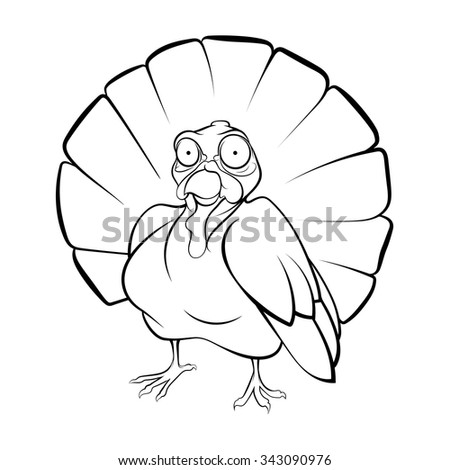 Turkey Chalk Coloring Book Stock Vector (Royalty Free) 343090976 ...