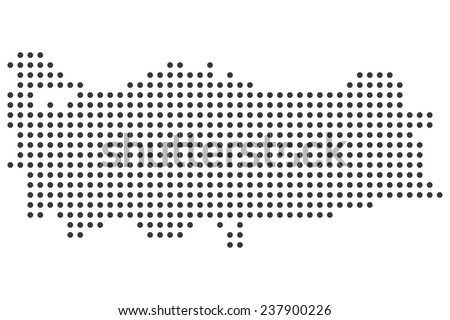 Turkey Dotted Map Vector Stock Vector 2018 237900226 Shutterstock