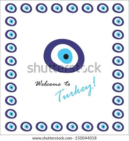 Turkey eye - stock vector