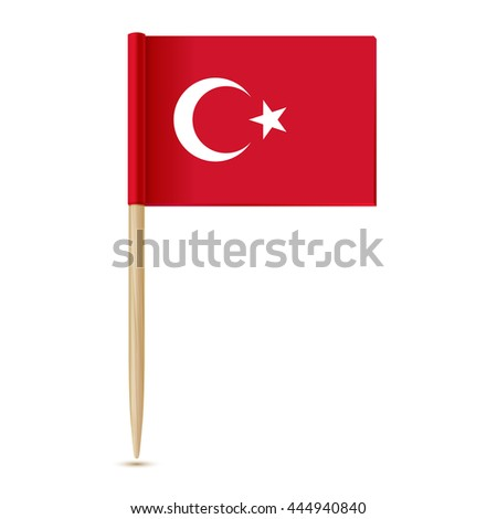 Turkey flag. Flag toothpick 10eps