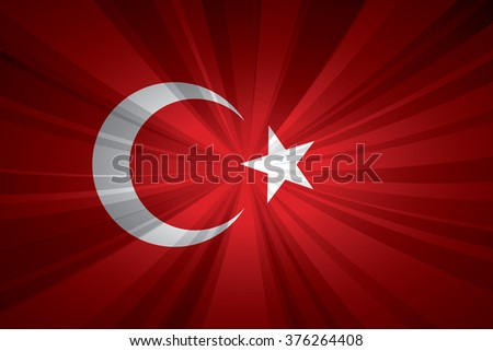 Turkey flag vector illustration.