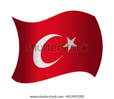 turkey flag waving in the wind
