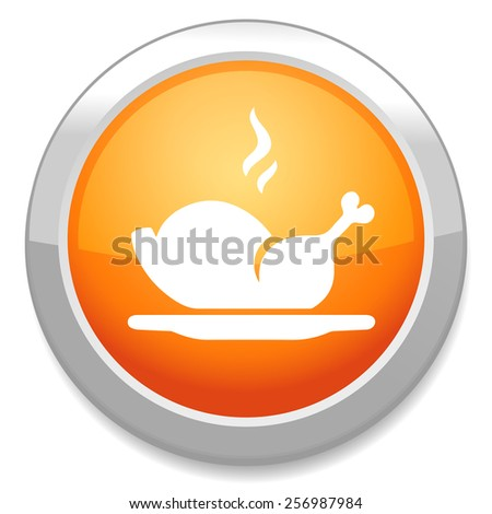 turkey icon - stock vector