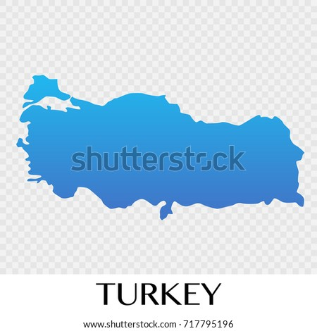 turkey map in europe continent illustration design