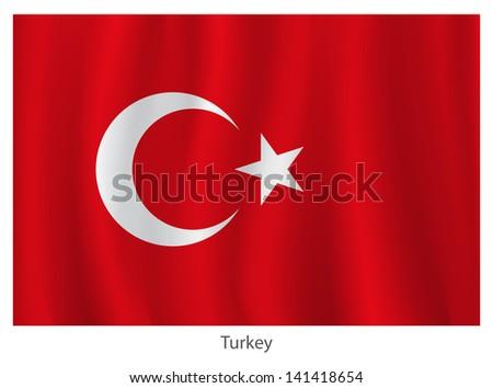 Turkey vector flag - stock vector