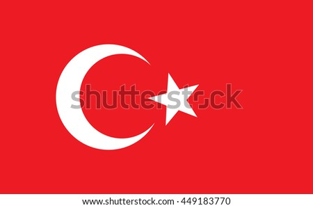 Turkey vector flag
