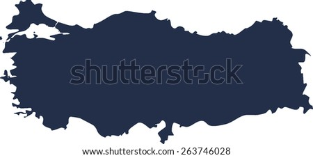 Turkey Vector map. High detailed.  - stock vector