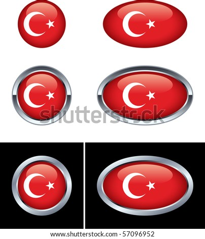Turkish Flag Buttons