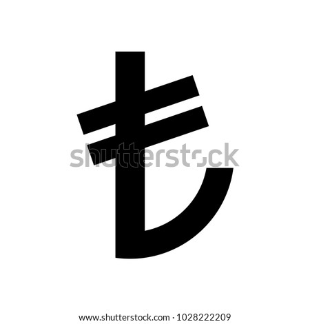 Turkish Lira Currency Symbol Icon Vector Stock Vector 1028222209