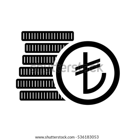 Turkish Lira Money Coins Sign Try Stock Vector 536183053 Shutterstock