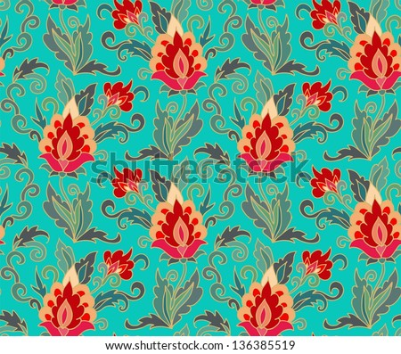 TURKISH POMEGRANATE - seamless pattern