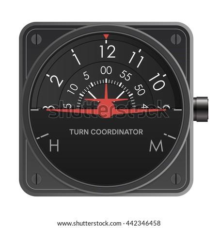 Turn Coordinator - stock vector