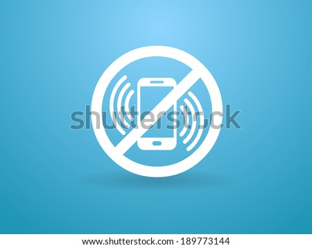 turn off phone icon - stock vector