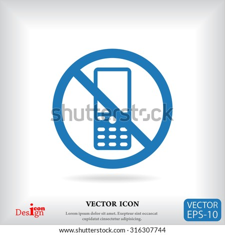 turn off phone vector icon - stock vector