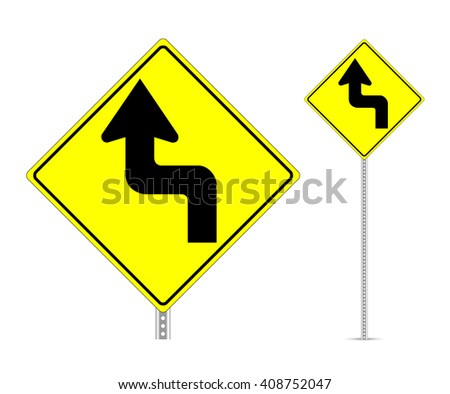 Turn traffic sign vector