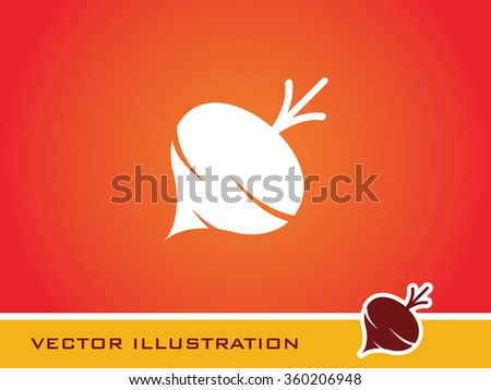 Turnip  Icon. Eps-10. - stock vector