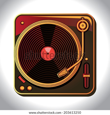 Turntable - stock vector