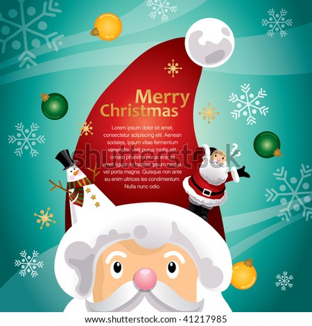 turquoise christmas hat template stock vector 41217985 shutterstock