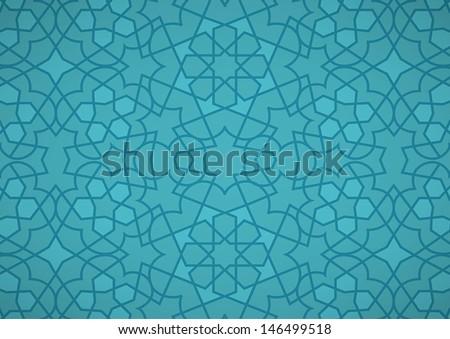 Turquoise Ottoman Pattern - stock vector