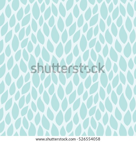Turquoise pattern with leaves. Vector seamless pattern