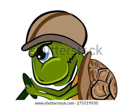 Turtle Cartoon: Vector - stock vector