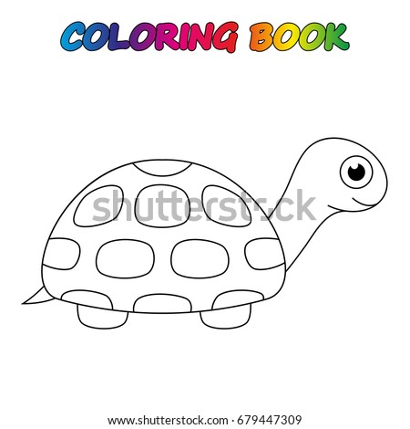 Turtle Coloring Book Coloring Page Educate Stock Vector 679447309 ...