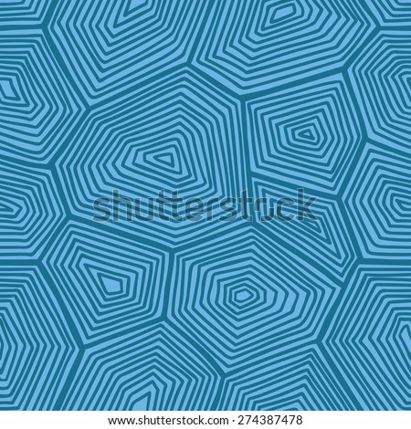 turtle shell pattern. vector seamless pattern with hand drawn doodle turtle shell - stock vector