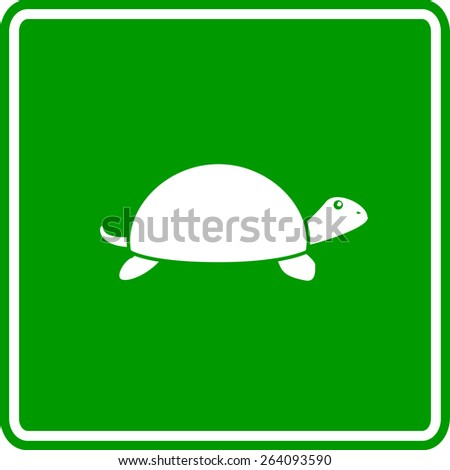 turtle sign - stock vector