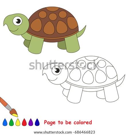 Turtle Be Colored Coloring Book Preschool Stock Vector 686466823 ...