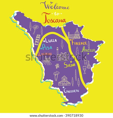 Map Of Tuscany Stock Images RoyaltyFree Images Vectors - Printable map of tuscany