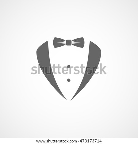 Tuxedo Gentleman Flat Icon On White Background