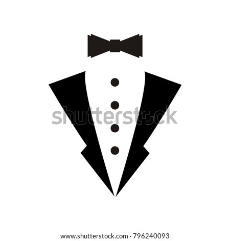 tuxedo logo vector illustration hipster vintage