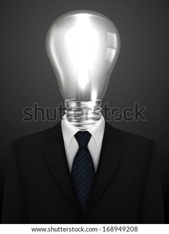 Tuxedo vector background with light bulb