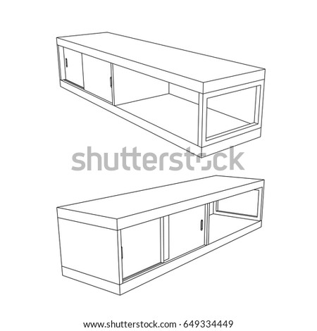 Tv Cabinet Drawing
