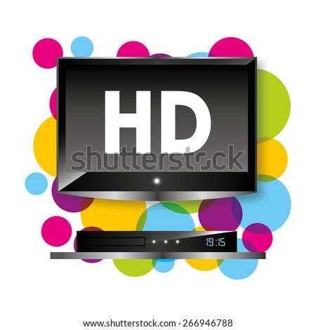 tv full hd design, vector illustration eps10 graphic  - stock vector