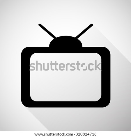 TV icon great for any use. Vector EPS10.